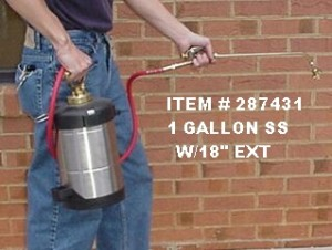 "One Gallon Stainless Steel B&G w/18"" Wand"